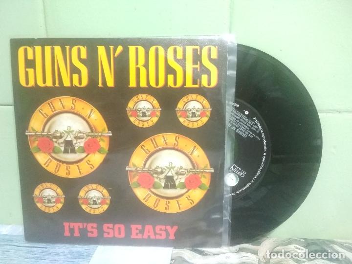 GUNS N' ROSES IT'S SO EASY SINGLE SPAIN 1990 PEPETO TOP (Música - Discos - Singles Vinilo - Heavy - Metal)