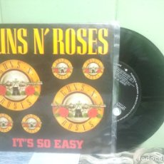 Discos de vinilo: GUNS N' ROSES IT'S SO EASY SINGLE SPAIN 1990 PEPETO TOP. Lote 176390613