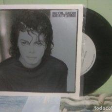Discos de vinilo: MICHAEL JACKSON MAN IN THE MIRROR SINGLE SPAIN 1988 PEPETO TOP. Lote 176391664