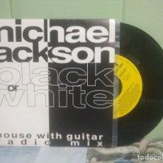 Discos de vinilo: MICHAEL JACKSON BLACK OR WHITE SINGLE SPAIN 1991 PEPETO TOP. Lote 176391802
