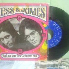 Discos de vinilo: JESS & JAMES MOTHERLESS CHILD +1 SINGLE SPAIN 1968 PEPETO TOP . Lote 176392230
