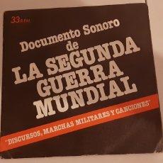 Discos de vinilo: DOCUMENTO SONORO DE LA SEGUNDA GUERRA MUNDIAL.. Lote 176392790