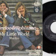 Discos de vinilo: EUROVISION 1976 - WATERLOO & ROBINSON - REPRESENTANTE AUSTRIA - SINGLE DE VINILO EDICION ESPAÑOLA #. Lote 176396794