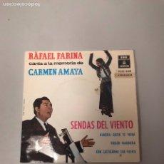 Discos de vinilo: RAFAEL FARINA. Lote 176398550