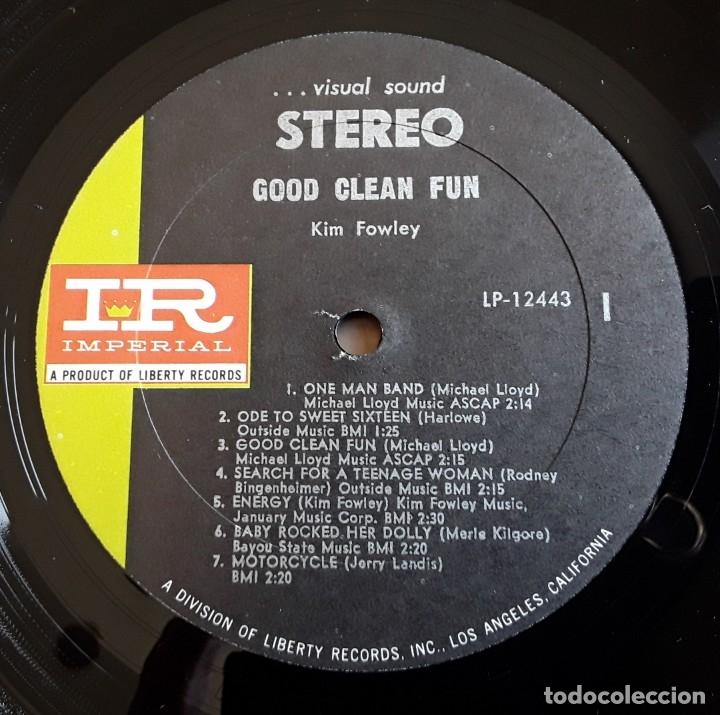 Discos de vinilo: KIM FOWLEY - GOOD CLEAN FUN (IMPERIAL LP-12443 - USA 1969) PSYCH ROCK ORIGINAL LP - Foto 3 - 176400679