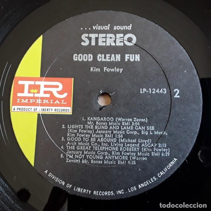 Discos de vinilo: KIM FOWLEY - GOOD CLEAN FUN (IMPERIAL LP-12443 - USA 1969) PSYCH ROCK ORIGINAL LP - Foto 4 - 176400679