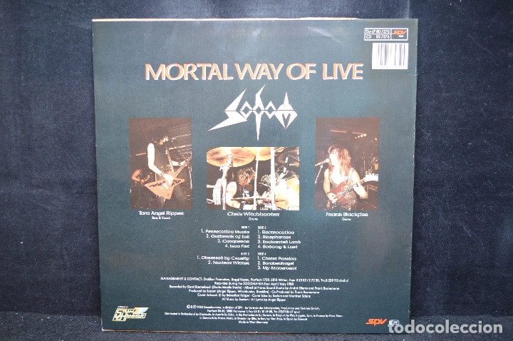 Discos de vinilo: SODOM - MORTAL WAY OF LIVE - 2 LP - Foto 2 - 176414283