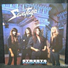Discos de vinilo: SAVATAGE - STREETS A ROCK OPERA - LP. Lote 176415023