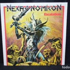 Discos de vinilo: NECRONOMICON - ESCALATION - LP. Lote 176415099