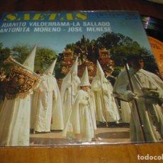 Discos de vinilo: JUANITO VALDERRAMA . SAETAS - SINGLE - PEDIDO MINIMO 6 EUROS. Lote 176417059