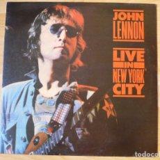 Discos de vinilo: LP JOHN LENNON / BEATLES - LIVE IN NEW YORK CITY - MINT- NUEVO SIN ESCUCHAR. Lote 176419177