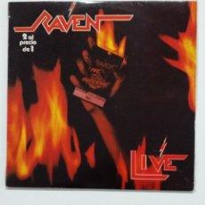 Discos de vinilo: RAVEN - LIVE AT THE INFERNO - DOBLE LP. TDKLP. Lote 176421580