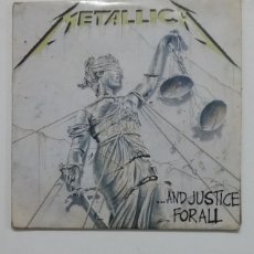 Discos de vinilo: METALLICA - AND JUSTICE FOR ALL. DOBLE LP. TDKDA64. Lote 176422243