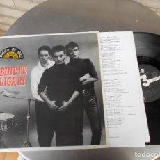 Discos de vinilo: GABINETE CALIGARI-LP CUATRO ROSAS-LETRAS. Lote 176427064