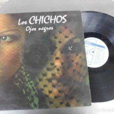 Discos de vinilo: LOS CHICHOS-LP OJOS NEGROS-LETRAS. Lote 176431032