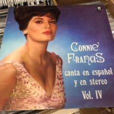 Discos de vinilo: CONNIE FRANCIS CANTA EN ESPAÑOL Y EN STEREO VOL IV LP DISCO VINILO MGM RECORDS. Lote 176434998