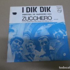 Discos de vinilo: I DIK DIK (SN) ZUCCHERO AÑO – 1969. Lote 176453479
