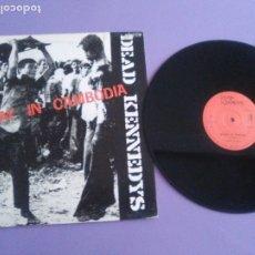 Discos de vinilo: JOYA MUY RARO MAXI DEAD KENNEDYS - HOLIDAY IN CAMBODIA - UK - SELLO CHERRY RED. CHERRY 13. Lote 176454194