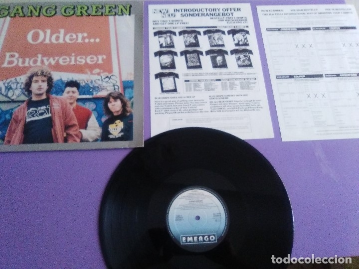 JOYA LP MUY RARO. GANG GREEN / OLDER... BUDWEISER - 1989 ROADRUNNER. RECORDS LV 9321. (Música - Discos - LP Vinilo - Punk - Hard Core)