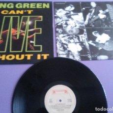 Disques de vinyle: MUY RARO LP. GANG GREEN - CANT LIVE WITHOUT IT LP + ENCARTE-1990 HARDCORE PUNK.ROADRUNNER RR 93801. Lote 176455554