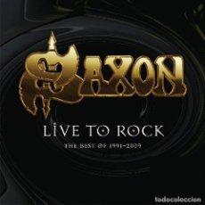 Discos de vinilo: SAXON * LP 180G HQ HEAVYWEIGHT * LIMITED EDITION * LIVE TO ROCK THE BEST OF 1991-2009 * PRECINTADO!!. Lote 176460324