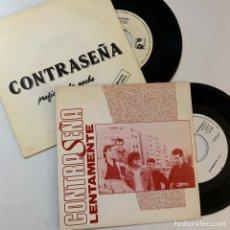 Discos de vinilo: LOTE SINGLE EP VINILO CONTRASEÑA LENTAMENTE PREFIERO EN LA NOCHE. Lote 176466467