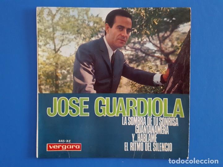 EP / JOSÉ GUARDIOLA /LA SOMBRA DE TU SONRISA +3 / 1966 (Música - Discos de Vinilo - EPs - Solistas Españoles de los 50 y 60)