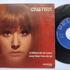 Discos de vinilo: CRISTINA - 45 SPAIN PS - EL ULTIMO DIA DEL AMOR. Lote 176473320