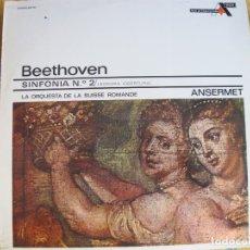 Discos de vinilo: LP - BEETHOVEN - SINFONIA Nº 2 (ORQUESTA DE LA SUISSE ROMANDE, ANSERMET). Lote 176473330