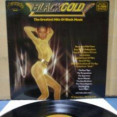 Discos de vinilo: BLACK GOLD - THE GREATEST HITS OF BLACK MUSIC 1980 GER / OTIS REDDING , WILSON PICKETT , SUPREMES. Lote 176480568