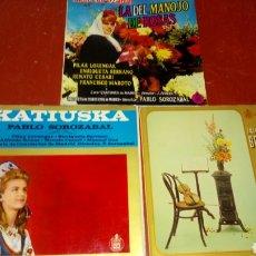 Discos de vinilo: SBJ LOTE 3 DISCOS LP PABLO SOLOZABAL NO PROBADO EN APARIENCIA ESTADO CORRECTO KATIUSKA BOHEMIOS ROSA. Lote 176483195