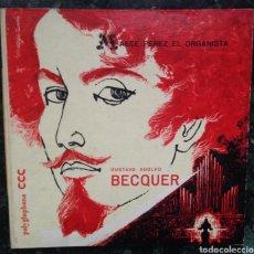 Discos de vinilo: LP GUSTAVO ADOLFO BECQUER - MAESE PEREZ EL ORGANISTA LEYENDA SEVILLANA - 1959 MUY RARO!!. Lote 176484533