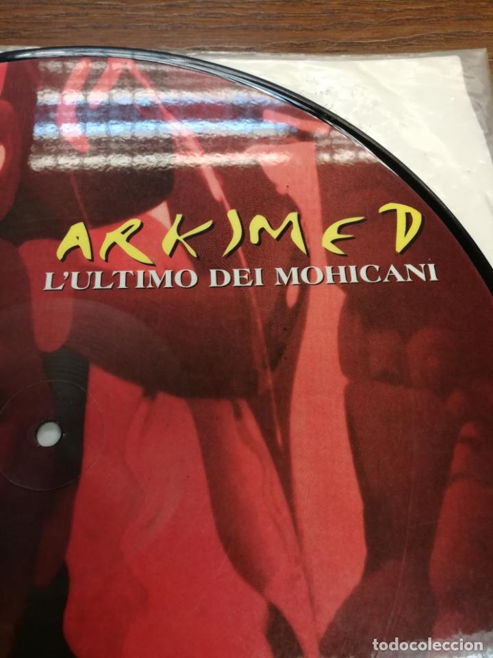 Discos de vinilo: Picture Disc-Arkimed - Lultimo Dei Mohicani (El ultimo Mohicano Makina La ruta del Bakalao, año 97) - Foto 2 - 176488043