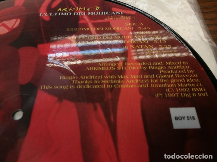 Discos de vinilo: Picture Disc-Arkimed - Lultimo Dei Mohicani (El ultimo Mohicano Makina La ruta del Bakalao, año 97) - Foto 6 - 176488043