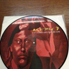 Discos de vinilo: PICTURE DISC-ARKIMED - L'ULTIMO DEI MOHICANI (EL ULTIMO MOHICANO MAKINA LA RUTA DEL BAKALAO, AÑO 97). Lote 176488043