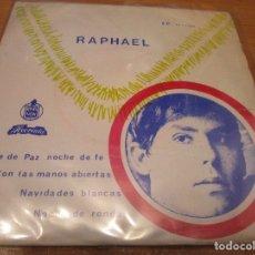 Discos de vinilo: RAPHAEL ( EP EDITADO EN ANGOLA )NOCHE DE PAZ NOCHE DE FE / NOCHE DE RONDA / NAVIDADES BLANCAS /. Lote 176507823