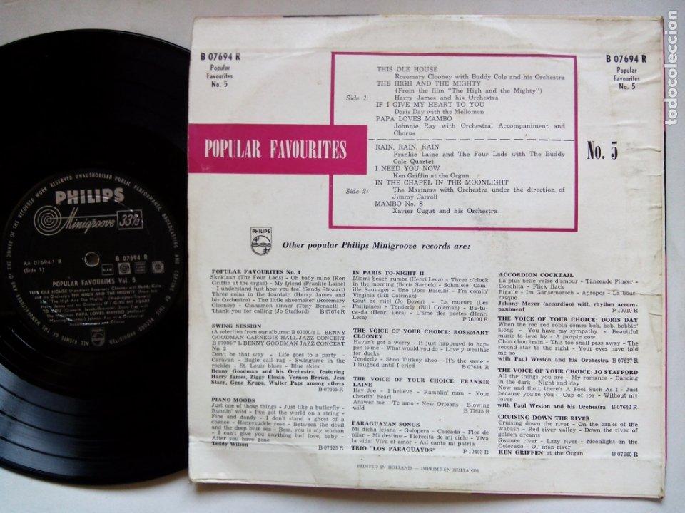 Discos de vinilo: POPULAR FAVOURITES Nº 5. 10 PULGADAS PHILIPS B07694R. HOLLAND. XAVIER CUGAT. KEN GRIFFIN. DORIS DAY. - Foto 2 - 176510253