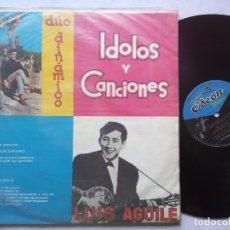 Discos de vinilo: DUO DINAMICO Y LUIS AGUILE - IDOLOS Y CANCIONES - RARO LP PERUANO - ODEON. Lote 176511377