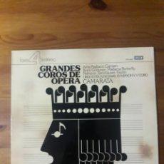 Discos de vinilo: GRANDES COROS DE ÓPERA ORQUESTA KINGSWAY SYMPHONY Y CORO CAMARATA. Lote 176523163