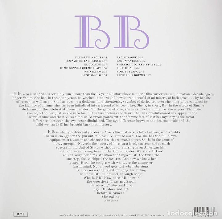 Discos de vinilo: Brigitte Bardot * LP 140g HQ Heavyweight * SINGS * Contiene inserto con fotos * Precintado!! - Foto 2 - 176524328
