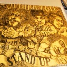Discos de vinilo: LP JETHRO TULL. STAND UP. CRYSALIS 1976 SPAIN CARPETA DOBLE CON DESPLEGABLE (PROBADO Y BIEN). Lote 176533468