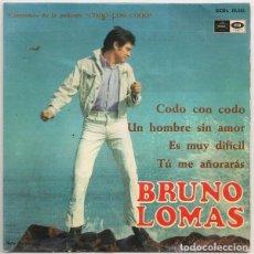 Discos de vinilo: BRUNO LOMAS – CODO CON CODO (REGAL – SEDL 19.543 7'', EP, 1967). Lote 176541592