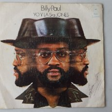 Discos de vinilo: BILLY PAUL. YO Y LA SRA. JONES. TU CANCIÓN. SINGLE.. Lote 176545062