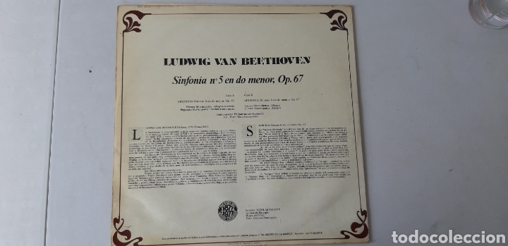 Discos de vinilo: Ludwing Van Beethoven. Sinfonía n 5 en do menor. Op 67 - Foto 2 - 176558819