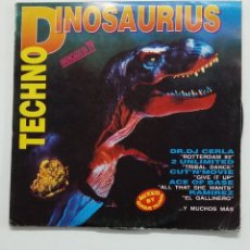 Discos de vinilo: TECHNO DINOSAURIUS - DOBLE LP. VARIOS ARTISTAS. TDKDA65. Lote 176565072