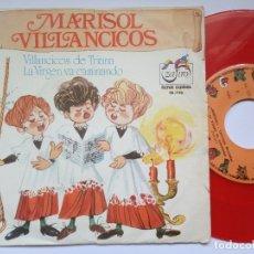 Discos de vinilo: MARISOL - VILLANCICOS DE TRIANA / LA VIRGEN VA CAMINANDO - RARO SINGLE 1973 - ZAFIRO / SERIE GUIÑOL. Lote 176568339