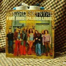 Discos de vinilo: LYNYRD SKYNYRD -- FREE BIRD / DOWN SOUTH JUKIN, MCA RECORDS 1975.. Lote 176587983