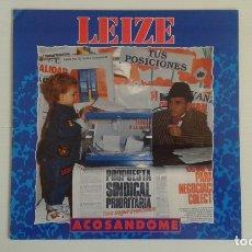 Discos de vinilo: LEIZE - ACOSANDOME LP 1991. Lote 176603045