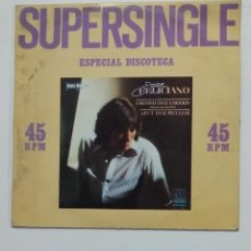 Discos de vinilo: SUPERSINGLE ESPECIAL DISCOTECA. JOSE FELICIANO. I SECOND THAT EMOTION. AIN'T THAT PECULIAR. TDKDA66. Lote 176606600