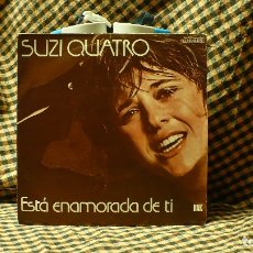 Disques de vinyle: SUZI QUATRO -- ESTÁ ENAMORADA DE TI / CADETES ESPACIALES, RAK 1979.. Lote 176618087